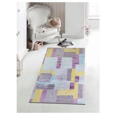 İhouse Hpatch12k Patcwork Kaydırmaz Halı Gri Ev Tekstili