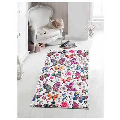 İhouse Hpatch17k Patcwork Kaydırmaz Halı Beyaz Ev Tekstili
