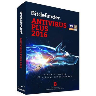 Bitdefender Antivirus Plus 2016 3 Kullanıcı/1 Yıl Güvenlik Yazılımı