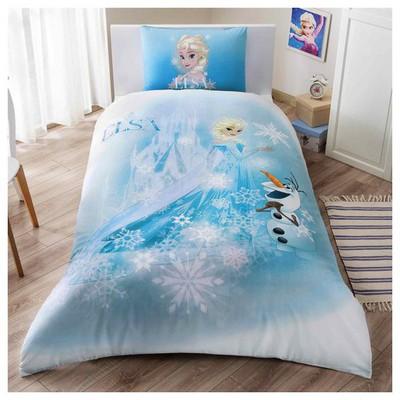 Taç Lisanslı Disney Frozen Elsa Olaf Nevresim Takımı Tek Kişilik Ev Tekstili