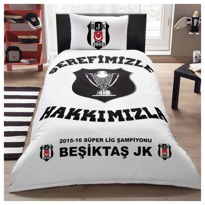 Taç Lisanslı Beşiktaş Şampiyonluk Nevresim Takımı Tek Kişilik Beşiktaş Ürünleri