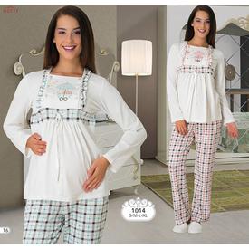Mecit Lohusa 2'li Pijama Takım Mint Yeşil M Gecelik & Pijama