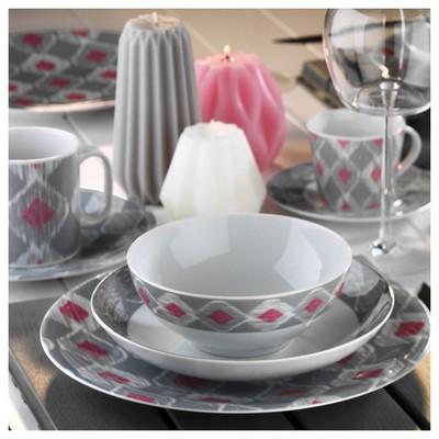 Kütahya Porselen 9130 Desen Çay Fincanı Ve Tabağı Çay Seti
