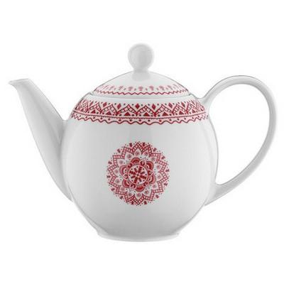 Mitterteich 866817 Desen Kahvedanlık Kırmızı Çaydanlık