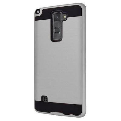 Microsonic Lg Stylus 2 Kılıf Slim Heavy Duty Gümüş Cep Telefonu Kılıfı