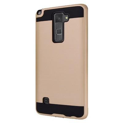 Microsonic Lg Stylus 2 Kılıf Slim Heavy Duty Gold Cep Telefonu Kılıfı