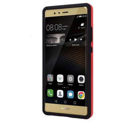 Microsonic Huawei P9 Kılıf Slim Heavy Duty Kırmızı Cep Telefonu Kılıfı