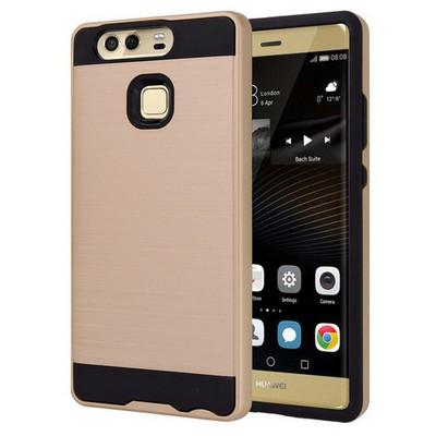 Microsonic Huawei P9 Kılıf Slim Heavy Duty Gold Cep Telefonu Kılıfı