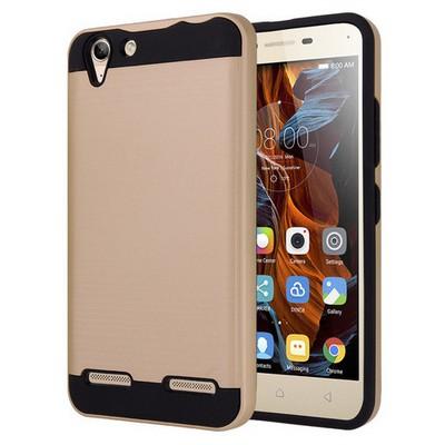 Microsonic Lenovo Vibe K5 Kılıf Slim Heavy Duty Gold Cep Telefonu Kılıfı