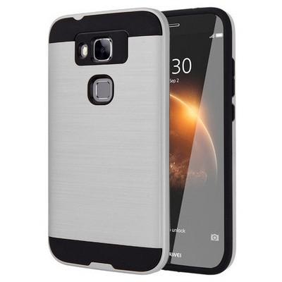 Microsonic Huawei G8 Kılıf Slim Heavy Duty Gümüş Cep Telefonu Kılıfı