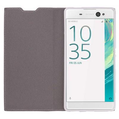 Microsonic Sony Xperia Xa Ultra Kılıf Gizli Mıknatıslı Delux Beyaz Cep Telefonu Kılıfı