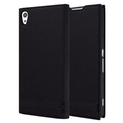 Microsonic Sony Xeria Xa Ultra Kılıf Gizli Mıknatıslı Delux Siyah Cep Telefonu Kılıfı