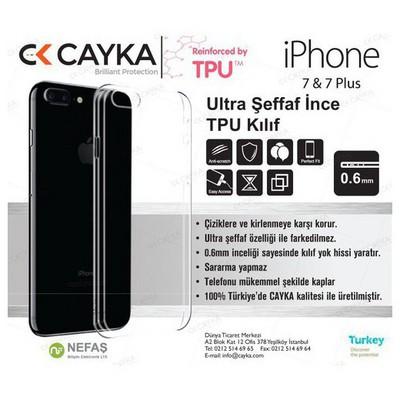 Cayka Cs-tpu-app-7p Iphone 7 Plus Tpu Şeffaf Kılıf Cep Telefonu Kılıfı