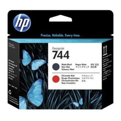 HP F9j88a (744) Mat Sıyah Ve Kırmızı Baskı Kafası Kartuş