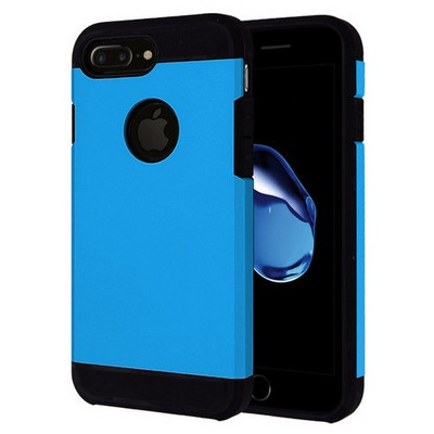 Microsonic Iphone 7 Plus Kılıf Slim Fit Dual Layer Armor Mavi Cep Telefonu Kılıfı