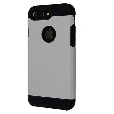 Microsonic Iphone 7 Plus Kılıf Slim Fit Dual Layer Armor Gümüş Cep Telefonu Kılıfı