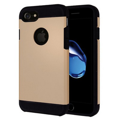 Microsonic Iphone 7 Kılıf Slim Fit Dual Layer Armor Gold Cep Telefonu Kılıfı