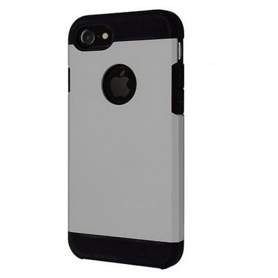 Microsonic Iphone 7 Kılıf Slim Fit Dual Layer Armor Gümüş Cep Telefonu Kılıfı