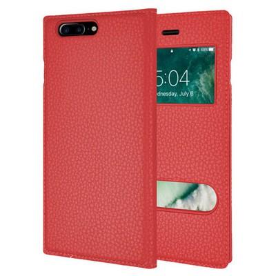 Microsonic Iphone 7 Plus Kılıf Dual View Gizli Mıknatıslı Kırmızı Cep Telefonu Kılıfı