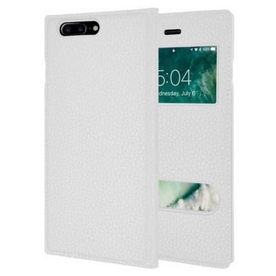 Microsonic Iphone 7 Plus Kılıf Dual View Gizli Mıknatıslı Beyaz Cep Telefonu Kılıfı