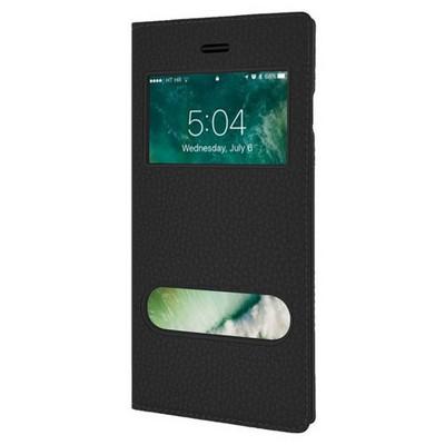 Microsonic Iphone 7 Plus Kılıf Dual View Gizli Mıknatıslı Siyah Cep Telefonu Kılıfı