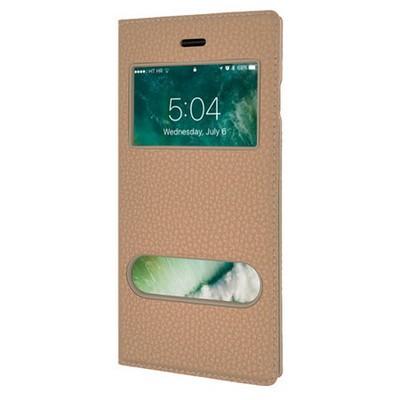 Microsonic Iphone 7 Kılıf Dual View Gizli Mıknatıslı Gold Cep Telefonu Kılıfı