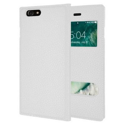 Microsonic Iphone 7 Kılıf Dual View Gizli Mıknatıslı Beyaz Cep Telefonu Kılıfı