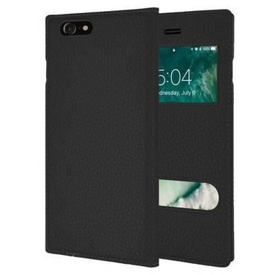 Microsonic Iphone 7 Kılıf Dual View Gizli Mıknatıslı Siyah Cep Telefonu Kılıfı