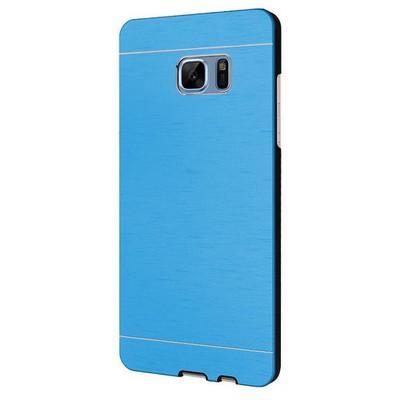 Microsonic Samsung Galaxy Note 7 Kılıf Hybrid Metal Mavi Cep Telefonu Kılıfı