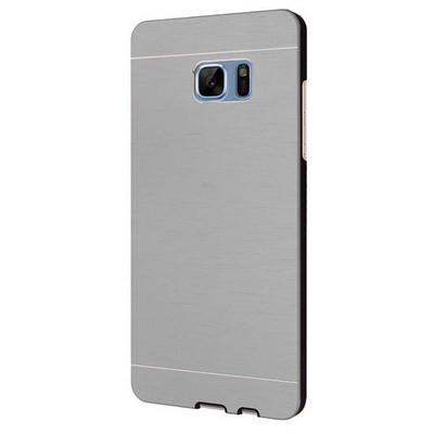 Microsonic Samsung Galaxy Note 7 Kılıf Hybrid Metal Gümüş Cep Telefonu Kılıfı