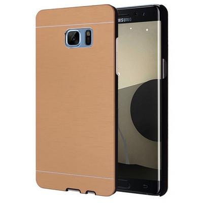 Microsonic Samsung Galaxy Note 7 Kılıf Hybrid Metal Gold Cep Telefonu Kılıfı