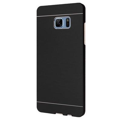 Microsonic Samsung Galaxy Note 7 Kılıf Hybrid Metal Siyah Cep Telefonu Kılıfı