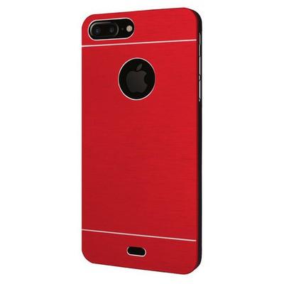 Microsonic Iphone 7 Plus Kılıf Hybrid Metal Kırmızı Cep Telefonu Kılıfı