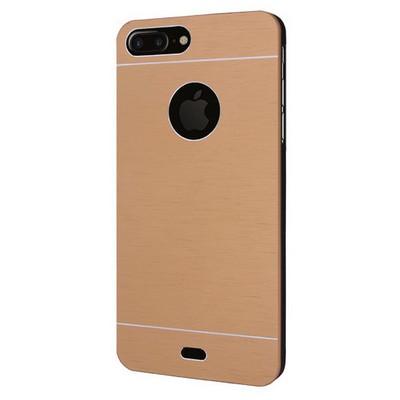 Microsonic Iphone 7 Plus Kılıf Hybrid Metal Gold Cep Telefonu Kılıfı