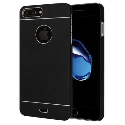 Microsonic Iphone 7 Plus Kılıf Hybrid Metal Siyah Cep Telefonu Kılıfı