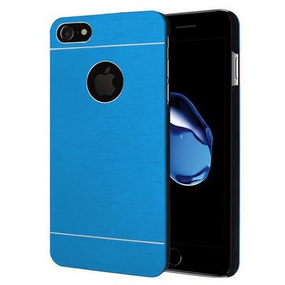 Microsonic Iphone 7 Kılıf Hybrid Metal Mavi Cep Telefonu Kılıfı