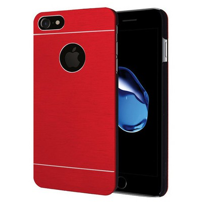 Microsonic Iphone 7 Kılıf Hybrid Metal Kırmızı Cep Telefonu Kılıfı