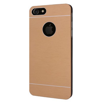 Microsonic Iphone 7 Kılıf Hybrid Metal Gold Cep Telefonu Kılıfı