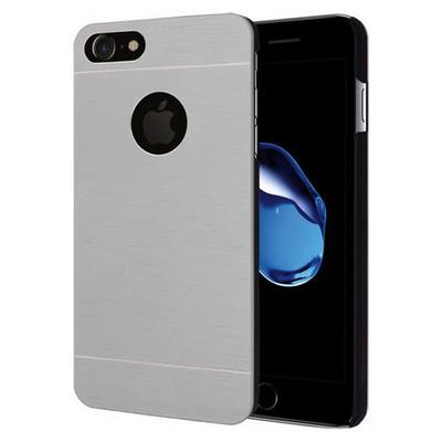 Microsonic Iphone 7 Kılıf Hybrid Metal Gümüş Cep Telefonu Kılıfı