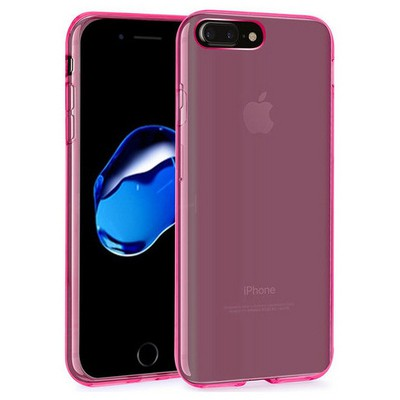 Microsonic Iphone 7 Plus Kılıf Transparent Soft Pembe Cep Telefonu Kılıfı
