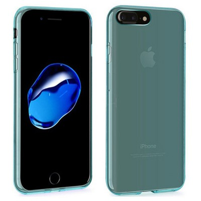 Microsonic Iphone 7 Plus Kılıf Transparent Soft Mavi Cep Telefonu Kılıfı