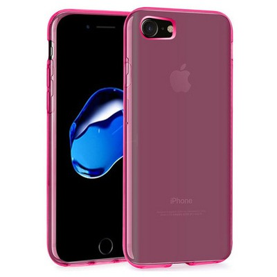 Microsonic Iphone 7 Kılıf Transparent Soft Pembe Cep Telefonu Kılıfı