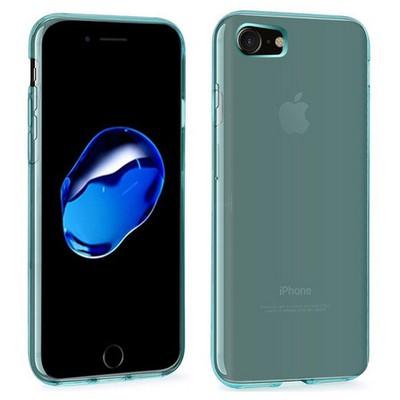 Microsonic Iphone 7 Kılıf Transparent Soft Mavi Cep Telefonu Kılıfı