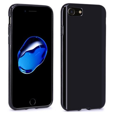 Microsonic Iphone 7 Kılıf Transparent Soft Siyah Cep Telefonu Kılıfı