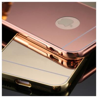 Microsonic Iphone 7 Kılıf Luxury Mirror Siyah Cep Telefonu Kılıfı
