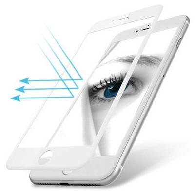Microsonic Iphone 7 Plus 3d Kavisli Temperli Cam Full Ekran Koruyucu Kırılmaz Film Beyaz Ekran Koruyucu Film