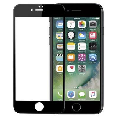 Microsonic Iphone 7 Plus 3d Kavisli Temperli Cam Full Ekran Koruyucu Kırılmaz Film Siyah Ekran Koruyucu Film