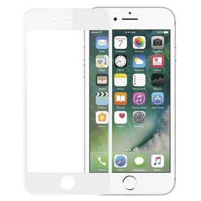 Microsonic Iphone 7 3d Kavisli Temperli Cam Full Ekran Koruyucu Kırılmaz Film Beyaz Ekran Koruyucu Film