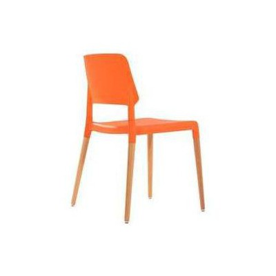 Adore Porta  Masif Ayaklı Plastik Sandalye Turuncu 52x54x80 Cm 4 Adet