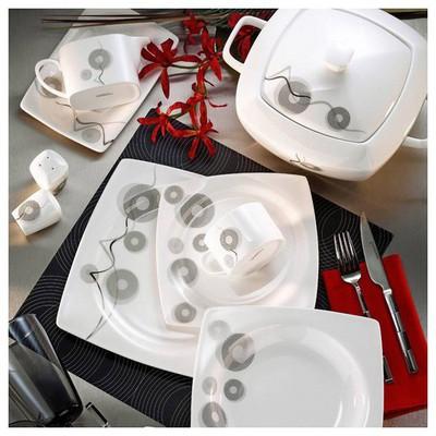 Kütahya Porselen Aliza Bone 83 Parça 25121 Desenli Yemek Takımı
